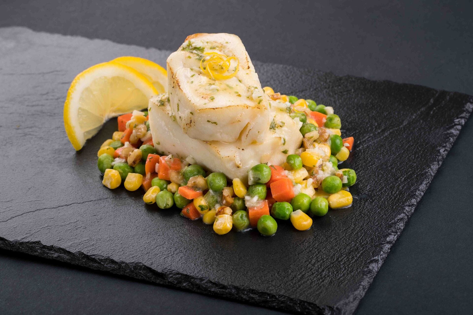 Cod Baked in a Garden of Greens